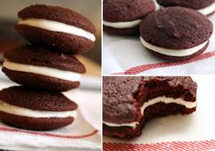 Paleo Red Velvet Whoopie Pies {Omit dye; puree 2 roasted beets for 1/2c juice (mix with cocoa powder); sub date sugar; add 1tsp salt; 1c buttermilk powder (mixed w/ coconut milk); 1tsp white vinegar (added to baking soda); honey for Filling sweetener}