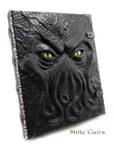 Ancient Chthonian Book - Livre de Cthulhu by MilleCuirs.deviantart.com on @deviantART