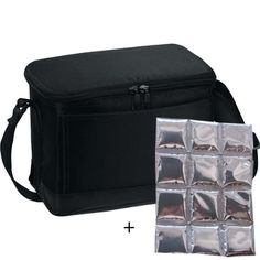cool Insulated Lunch Cooler Bag - with Flexi Reusable Ice Mat Included (Black) Reviews