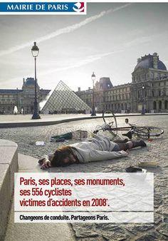 Campagne d'affichage, presse pour la Mairie de Paris