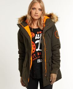 This has to be my winter coat for 2014! Just my style & l love the retro orange lining! Superdry Everest Slim Polar Coat