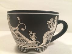 Greek Cup with Handle Handmade in Greece Appoaith-Kiaopaoue Marked N-9 A-180 April 2, 1980 by MidCenturyAmericana on Etsy