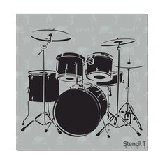 This easy-to-use Drum Set Small Stencil from is perfect for walls, home decor, clothing and more. Each stencil is cut high quality in order to provide a long lasting design. The possibilities of what you can create with a stencil are endless. Drum Drawing, Guitar Drawing, Wall Drawing, Used Drums, Drum Lessons For Kids, Drum Tattoo, Gretsch Drums, Laser Cut Stencils, Detail Art