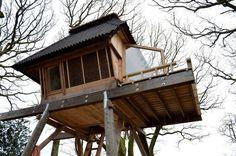 Wooden house on stilts - dome house Stilt House Plans, House On Stilts, Wooden Cabins, Wooden House, Micro House, Tiny House, Wooden Columns, Dome House, Farm Stay