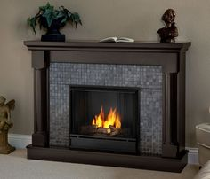 Harper Blvd Contemporary Wall Mount Gel Fuel Fireplace by Harper