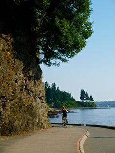 Cycling The Sea Wall At Stanley Park In Vancouver