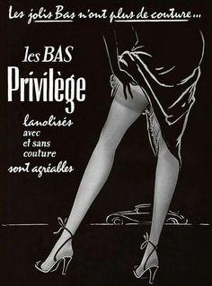 Privilège Stockings 1955  Source: noonesnemesis