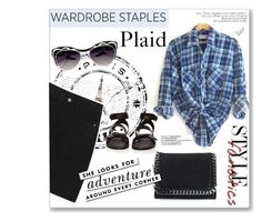 """""""Your New Plaid Shirt"""" by ammiescott ❤ liked on Polyvore featuring STELLA McCARTNEY, rag & bone, Kate Spade, summerstyle, plaidshirt, polyvorecontest and blueplaid"""