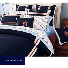 @Overstock - This All American comforter from Tommy Hilfiger set features a classic Americana design. This 100-percent cotton comforter set is the perfect way to bring out your patriotic side while still maintaining your fashion sense.http://www.overstock.com/Bedding-Bath/Tommy-Hilfiger-All-American-Classic-Navy-3-piece-Comforter-Set/6143921/product.html?CID=214117 $157.99