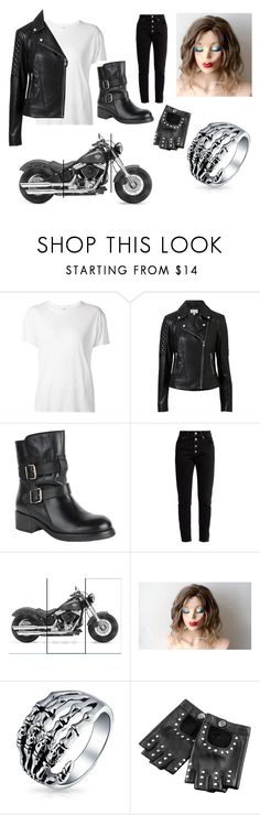 """""""!Biker Chick!"""" by xxbubblesxx319 ❤ liked on Polyvore featuring R13, Witchery, Kurt Geiger, Balenciaga and Bling Jewelry"""