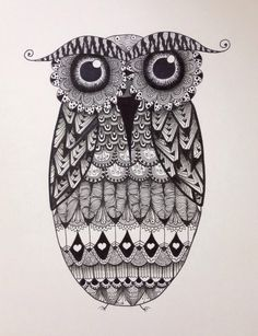 Popular items for zentangle owl on Etsy