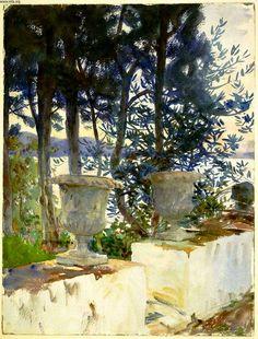 John Singer Sargent, Corfu: The Terrace on ArtStack #john-singer-sargent #art