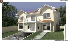 Planta de Sobrado - 5 Quartos - 530.49m² - Monte Sua Casa
