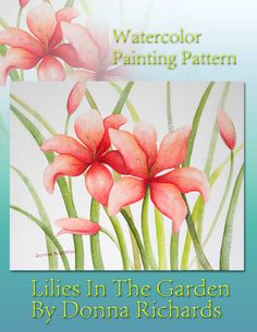 Learn to paint watercolors with simple watercolor painting patterns, ready for downlaod from the Art Apprentice Online