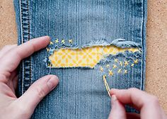 *Kawaii* way to mend jeans!