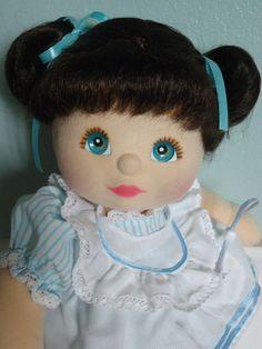 Mattel My Child Doll Aussie Brunette Aqua Eyes Peach/Pink Make up with flaws #Mattel