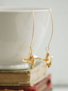 Gold PINWHEEL EARRINGS