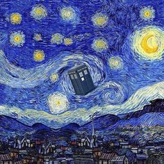 Starry Night Inspiration Dr Who Tardis