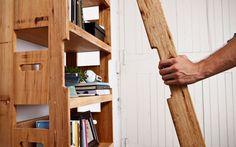 Modern Bookshelf Features a Hidden Built-In Ladder - My Modern Metropolis