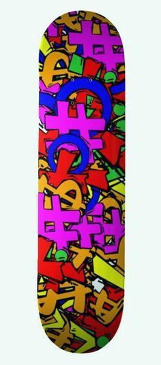 Exclamation Design - Skateboard #skating #design #sport #leisure #skateboards