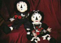 Gothic Raggedy Ann & Andy dolls💀💀