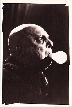 Vintage TV Classsing Addams Family Postcard: Uncle Fester Frump [Jackie Coogan]
