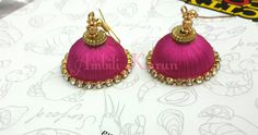 simple silk thread jhumka