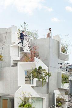 小尺度的極致城市生態系統。- 平田晃久的東京樹屋 – WEHOUSE