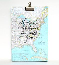 Home-is-wherever-i'm-with-you-calligraphy-map-art-print-mint-1430927609
