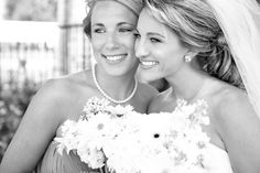 wedding photo- maid of honor and bride