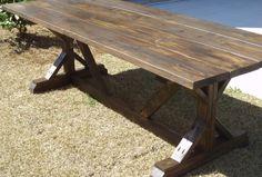 8ft farm harvest table