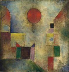 """Mientras el ojo derecho mira, el izquierdo siente, o ¿es al revés? """"Red Balloon"""" de Paul Klee"""
