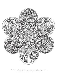 Happy Coloring Monday! Here your free coloring page http://valentinadesign.com/images/printables/mandala_12_16_VH.pdf Enjoy it!