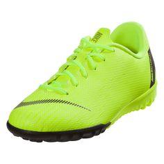 best service c05ce 48040 Nike Junior Mercurial Vapor XII Academy IC Indoor Soccer Shoe Volt Black-1