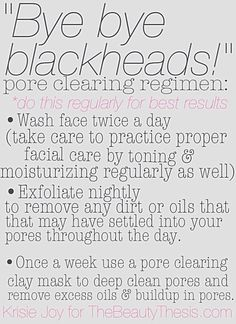 Bye Bye Blackheads! A Blackhead Prevention Routine