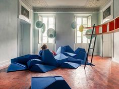 Fauteuil / coussin en laine LES ANGLES by SMARIN