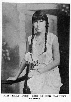 """Miss Elma Fung, who is her father's cashier, [1930]  Image from National Library of Jamaica Photograph Collection  FROM """"Our Jamaican Chinese Ladies - An Influence"""", PLANTERS PUNCH, Vol.II, No.IV, 1930; p.8-9"""