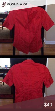 Armani Exchange Armani button down blouse in red size medium A/X Armani Exchange Tops Button Down Shirts