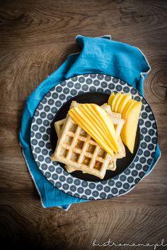 Gofry jaglane | bistro mama Waffles, Breakfast, Food, Waffle, Hoods, Meals