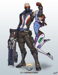 """overwatch-arts: """" •  Overwatch-soldier76 D.Vakatoyo85 """""""