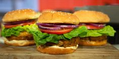 Make turkey burgers extra flavorful with soy sauce, cilantro and garlic. 2 other dishes with the same turkey burger recipe-a fried rice and a salad dish. Turkey Burger Recipes, Turkey Burgers, Gourmet Recipes, Cooking Recipes, Healthy Recipes, Beef Recipes, Cooking Tips, Easy Recipes, Recipies