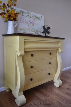 Picked & Painted: Empire Dresser in White Raisin