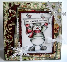 Nixe07 - Moni´s creative place: Warm Winter Wishes ... DT Card Bunny Zoe´s Crafts