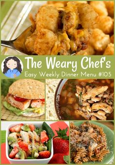 Easy Weekly Dinner Menu #105: Casserole, Sandwiches, Pasta, and More!