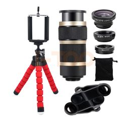 Mini Tripod 8X Zoom Telephoto Lentes Fisheye Phone Lens For iPhone 5 6 6s 7 Plus Xiaomi Samsung Wide Angle Macro Fish eye Lenses