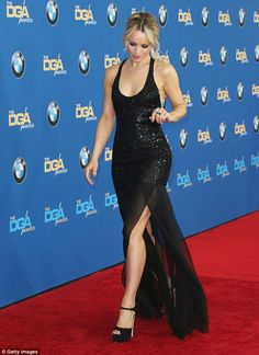 Leggy: Rachel continued her successful stroll down the red carpet while baring glimpses of leg