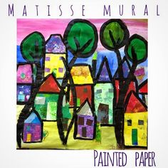 PAINTED PAPER: Matisse Organic Trees and Mixed Media Mural