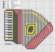 Arte by Cachopa - Ponto Cruz I: Gráfico - Instrumentos musicais