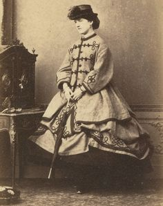 1870s Fashion, Civil War Fashion, Victorian Life, Victorian Women, Lift Skirt, Civil War Dress, Millinery Hats, Second Empire, Historical Pictures