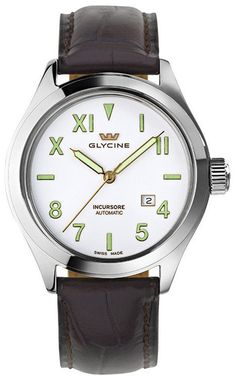 Glycine Watch Incursore 44mm Auto #bezel-fixed #bracelet-strap-leather #brand-glycine #case-material-steel #case-width-44mm #date-yes #delivery-timescale-call-us #dial-colour-white #gender-mens #luxury #movement-automatic #official-stockist-for-glycine-watches #packaging-glycine-watch-packaging #subcat-incursore #supplier-model-no-3922-11l-pl-lbk7f #warranty-glycine-official-2-year-guarantee